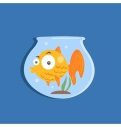 Golden Fish In Aquarium Image vector