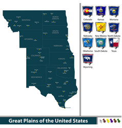 Great plains of the united states vector