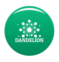 Growing dandelion logo icon green vector