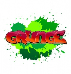 grunge graffiti background vector image