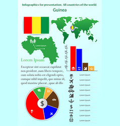 Guinea infographics for presentation all vector