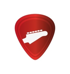 Guitar pick icon vector