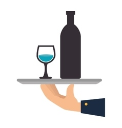 hand waiter isolated icon vector image