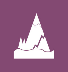 Icon iceberg with crack vector