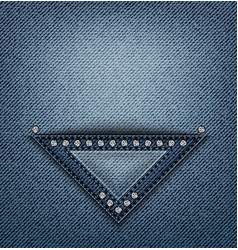 jeans triangle pocket design vector image