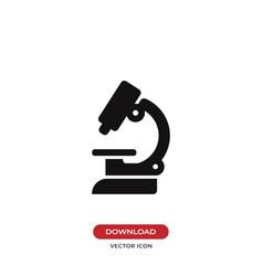lab microscope icon vector image