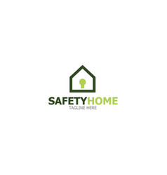 logo template safet home vector image