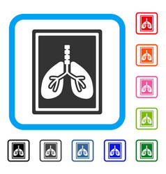 lungs fluorography framed icon vector image