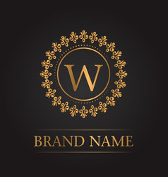 luxury gold template monogram vector image