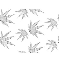 marijuana leaf in black and white vector image