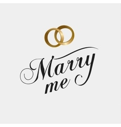 marry me calligraphy card vector image