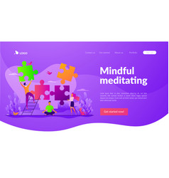 mindfulness landing page template vector image