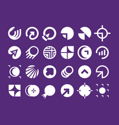 Modern professional set logos planet technology vector