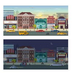 Modern urban architecture building cityscape vector