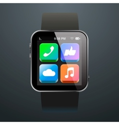 Modern watch with App Icons vector image
