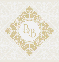 Monogram from intertwining letters bb vector