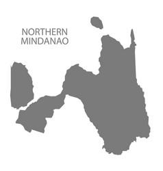 Northern mindanao philippines map grey vector