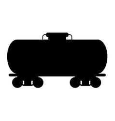Oil rail tank vector