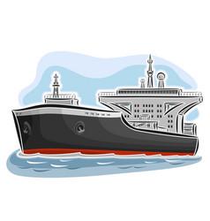 Oil tanker ship vector