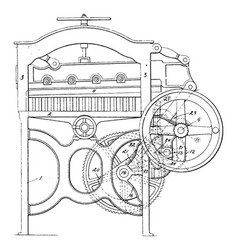 Paper cutting machines vintage vector