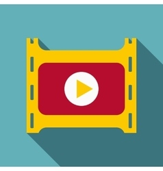Play film icon flat style vector image