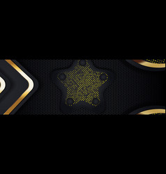 Printgold banner abstract background board vector