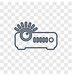 projector concept linear icon isolated on vector image