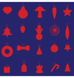 red christmas decoration set eps10 vector image