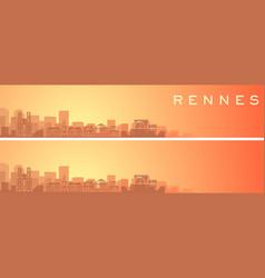 Rennes beautiful skyline scenery banner vector