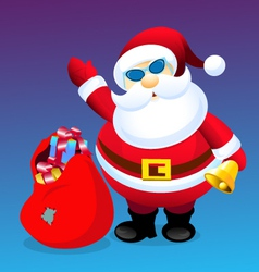 Santa and Christmas Gifts vector image