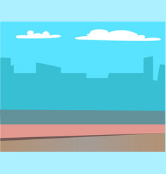 scenery landscape buildings silhouettes at sunrise vector image