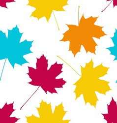 Seamless pattern with maple leaves Autumn fall vector