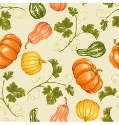 Seamless pattern with pumpkins Decorative vector