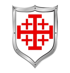 Shield of the Order of the Holy Sepulchre vector image