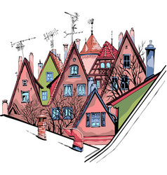 sketch bamberg vector image