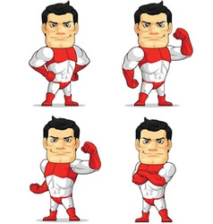 Superhero customizable mascot vector
