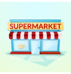 Supermarket shop vector image