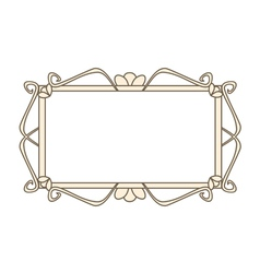 Sweet pastel retro art deco frame vector image