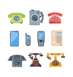 telephones vintage old style telephones and vector image