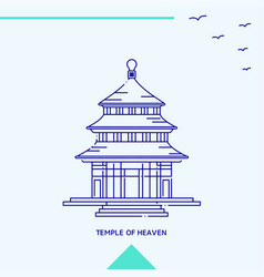 temple of heaven skyline vector image