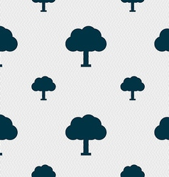 Tree Forest icon sign Seamless pattern with vector