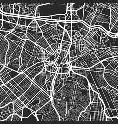 urban city map sao paulo poster grayscale vector image