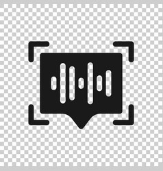 Voice recognition icon in transparent style vector