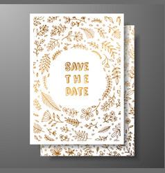 wedding vintage invitationsave date card vector image