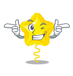 Wink stars ballon isolated in the character vector