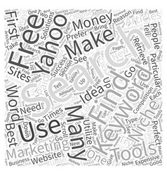 Making Money with Articles Using the Yahoo Search vector image vector image