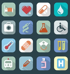 Medicine web colour icons set vector image