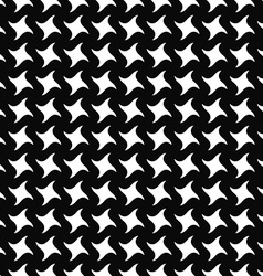 Repeating monochrome swirling star pattern vector image vector image