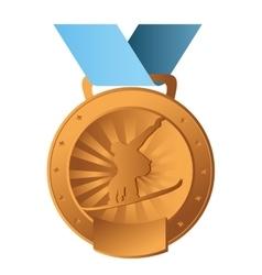 ski sport emblem icon vector image