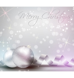 Christmas background with shiny baubles vector image vector image